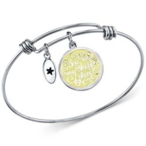 Unwritten Happy Place Charm Adjustable Silver